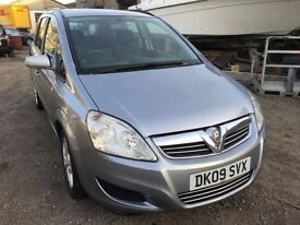 Vauxhall Zafira 7 seater 2009, starts and drives well, 1 years MOT (runs out March 2018), clean insi