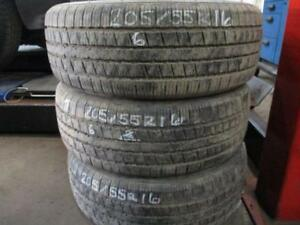 205/55 R16 HANCOOK USED TIRES (SET OF 3) - APPROX. 80% TREAD