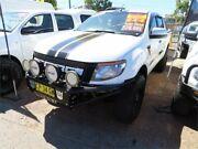 2013 Ford Ranger PX XLS Double Cab White 6 Speed Manual Utility Minchinbury Blacktown Area Preview