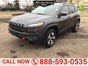 2016 Jeep Cherokee 4WD TRAILHAWK Accident Free,  Leather,  Sunro