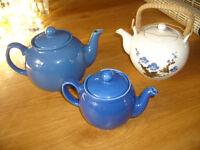 Three tea pots
