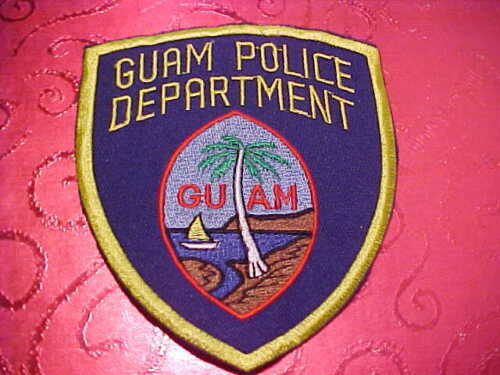 GUAM POLICE PATCH SHOULDER SIZE UNUSED