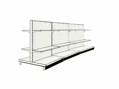 (8' AISLE GONDOLA FOR LIQUOR STORE SHELVING USED 48