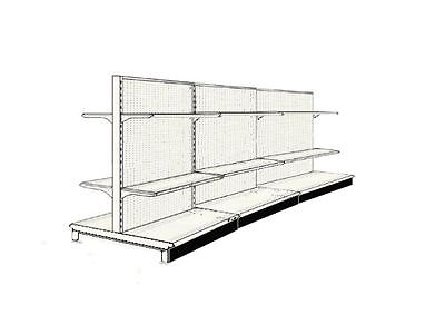 (12' AISLE GONDOLA FOR GROCERY STORE SHELVING USED 72