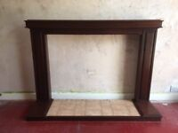 *FREE* Hardwood fireplace surround and hearth