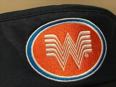 Whataburger Old School Large Blue  Sun Summer Unique  VISOR  RARE Hat Cap (Blue Summer Hat)
