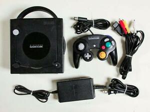 BLACK NINTENDO GAMECUBE SYSTEM AND GAMES 4 SALE- MARIO, KART, PARTY 4-5-6-7, ZELDA, POKEMON. SUPER SMASH, RESIDENT EVIL