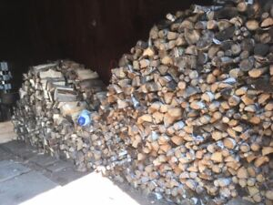 Seasoned Firewood- Hardwood, and Spruce -by bag or cord