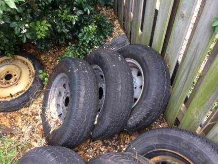 7 Secondhand wheels suit trailers (boat and Box)