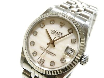 Auth ROLEX The Datejust 68274NG Silver M