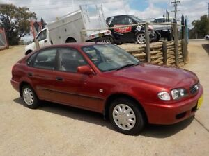 2001 Toyota Corolla AE112R Conquest Burgundy 5 Speed Manual Sedan North St Marys Penrith Area Preview