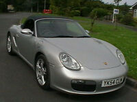 2005 PORSCHE BOXTER 2.7 987 2 DR CONVERTIBLE SPORTS CAR IN SILVER BLACK LEATHER