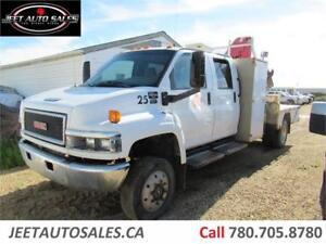 2006 GMC C5500 Crew Cab Truck with AMCO VEBA Picker Crane