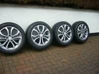 "GENUINE MERCEDES 17"" RIMS WITH TYRES EXCELLENT CONDITION,"
