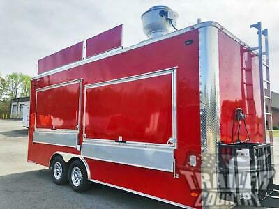 New 2021 8.5x20 Enclosed Mobile Concession Kitchen Food Vending Trailer Marquee