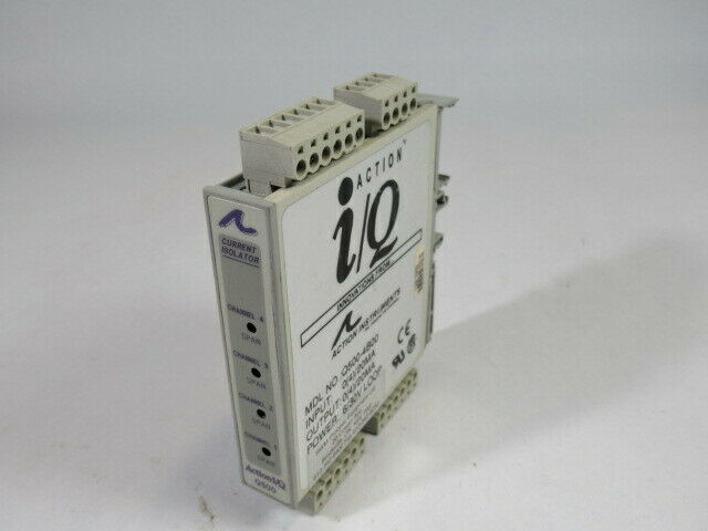 Action Instruments Q500-4B00 4 Channel Loop Powered Current Isolator USED