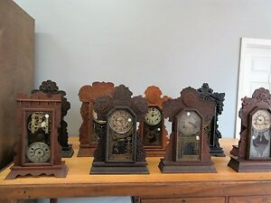 Antique Clocks - Large Selection of Mantel and Gingerbread