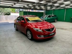 2008 Mazda 6 GH1051 Luxury Red Pearl 5 Speed Sports Automatic Sedan Croydon Burwood Area Preview