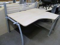 *SOLID XLARGE EXPENSIVE OFFICE TABLE+PASSAGE FOR WIRING+METAL LEGS+GOOD CONDITION+DELIVERY AVAILABLE