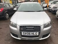 2006 Audi A3 2.0 TFSI S Line Special Edition Quattro 3dr FULL LEATHER SEATS, S-LINE