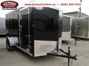 2017 Enclosed cargo trailer HAULIN 6 X 12 ramp door, AERODYNAMIC