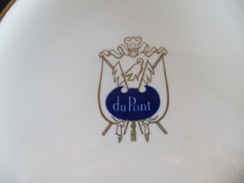 Mayer China Advertising duPont Hotel Logo Luncheon Plate Wilmington, Delaware