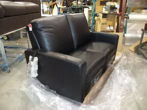 Black Leather Recliner Loveseat