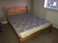 Solid Pine Double Bed in very good condition.