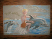 """ARTIST to paint """"boy on a dolphin"""", for AUTISM SINGS !"""