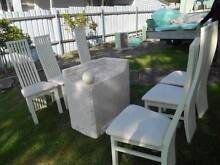 Stone Dinning Setting, Coffee & Hall Table Cream Glass Tops New Lambton Heights Newcastle Area Preview