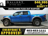 2012 FORD F150 SVT RAPTOR *EVERYONE APPROVED* $0 DOWN $289 BW!