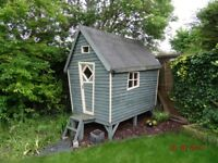 Wooden Outdoor Play Cabin unique design and hand built