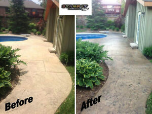 Stamped Concrete Resealing / Restoration And More! London Ontario image 2