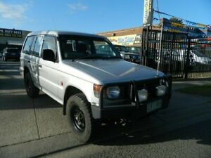 1991 Mitsubishi Pajero NH GLX LWB (4x4) Silver 4 Speed Automatic 4x4 Wagon Williamstown North Hobsons Bay Area Preview