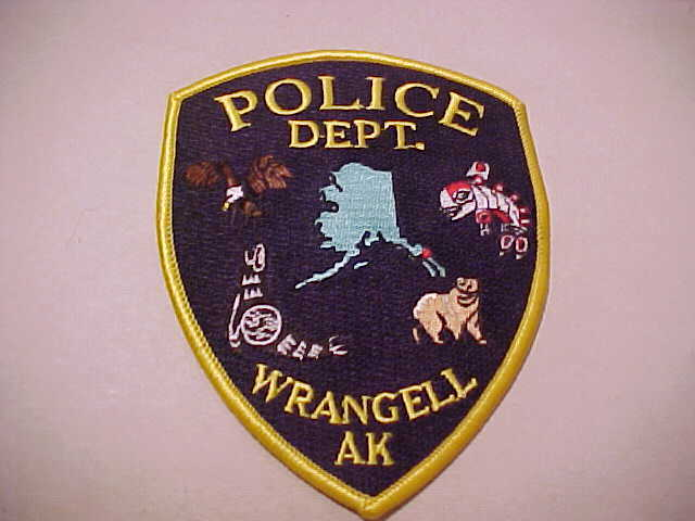 WRANGELL ALASKA POLICE PATCH **** FREE SHIP IN USA **** SHOULDER SIZE UNUSED