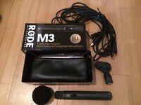 Rode M3 Condenser Microphone + lead