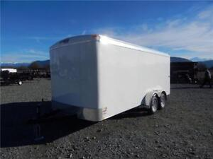 NEW 16'X7' WIDE ENCLOSED CARGO TRAILER TANDEM BARN DOOR