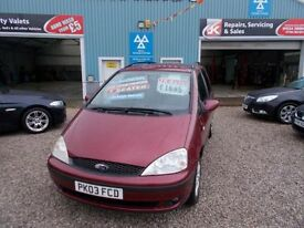 FORD GALAXY 1.9 ZETEC TDDI 5d 130 BHP 7 seater (red) 2003