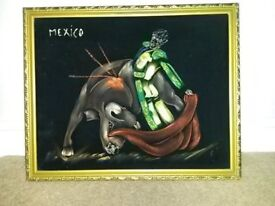 MEXICAN BULLFIGHT PAINTING