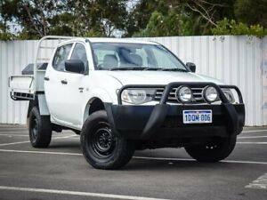 2011 Mitsubishi Triton MN MY11 GLX Double Cab White 5 Speed Manual Utility Maddington Gosnells Area Preview