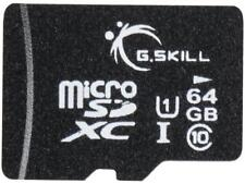 G.Skill 64GB microSDXC UHS-I/U1 Class 10 Memory Card with Adapter (FF-TSDXC64GA-