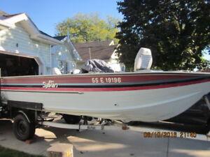 Sylvan, aluminum boat, trailer and two motors