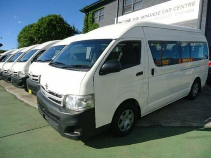 2010 Toyota Hiace KDH223R MY11 Upgrade Commuter White 4 Speed Automatic Bus