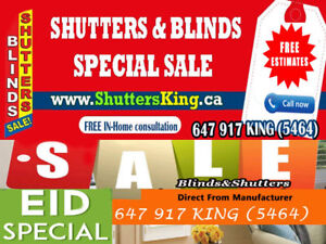 Special discount for California shutters
