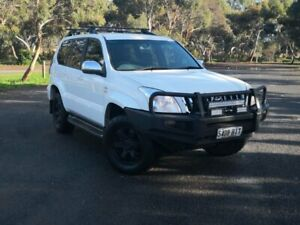 2009 Toyota Landcruiser Prado KDJ120R GXL White 5 Speed Automatic Wagon Mile End South West Torrens Area Preview