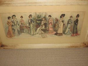 1900 Fashion The Latest Fall and Winter Styles Printed Framed