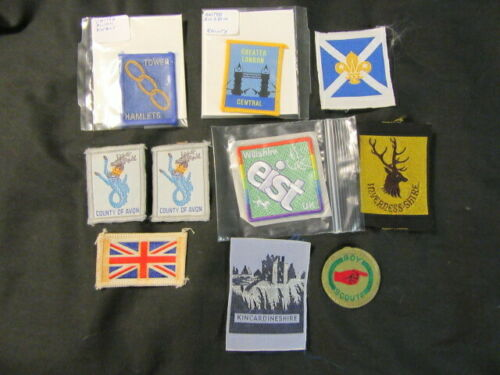 England United Kingdom Boy Scout Patches Lot of 10     eb07  #3