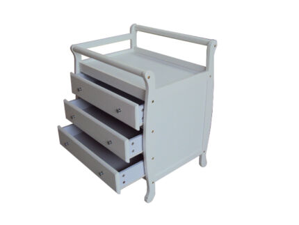 Brand New Baby Change Table with Drawers Dark Mahagony or White Auburn Auburn Area Preview