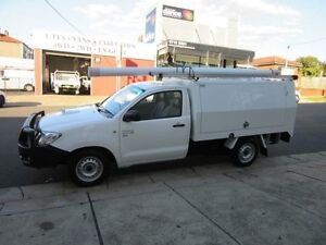 2010 Toyota Hilux KUN16R MY10 SR White 5 Speed Manual 2D CAB CHASSIS Croydon Burwood Area Preview