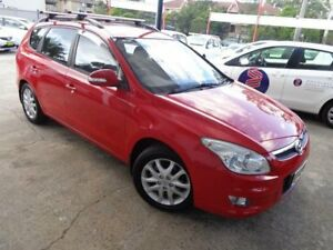 2010 Hyundai i30 FD MY10 CW SLX 2.0 Red 4 Speed Automatic Wagon Sylvania Sutherland Area Preview